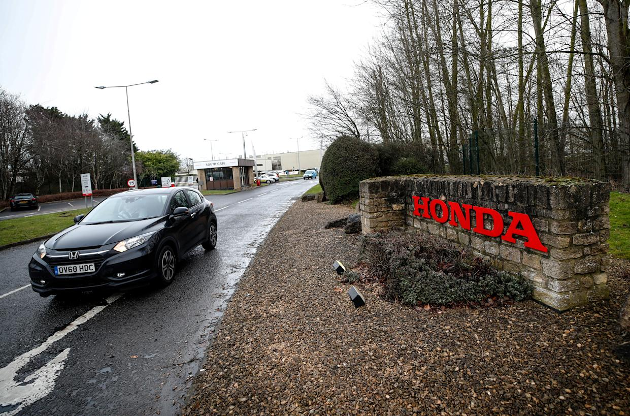 General view of the entrance to the Honda car plant in Swindon, Britain, February 18, 2019. REUTERS/Eddie Keogh