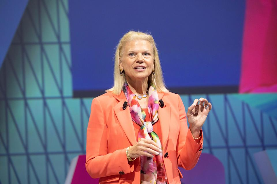 Closing the gap: IBM CEO Ginni Rometty is one of the most senior women in tech, an industry where women actually have an edge when it comes to executive pay. Photo: Christophe Morin/IP3/Getty Images