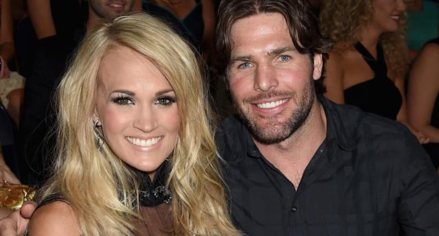 Carrie Underwood and Mike Fisher atthe 2015 CMT Music Awards (Photo: Jeff Kravitz/FilmMagic)
