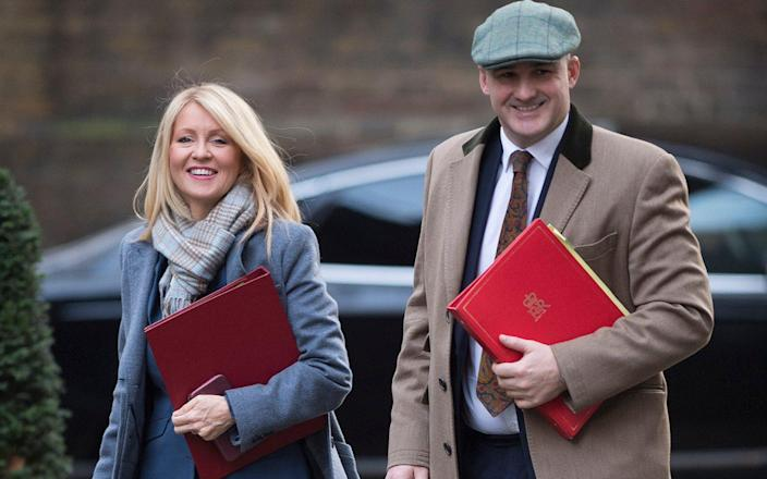 Esther McVey, who also signed the letter, and Jake Berry are said to be angry with Team Boris - Eddie Mulholland