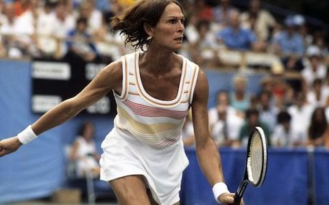 <span>Renee Richards competed in both the women's and men's singles</span> <span>Credit: Getty Images </span>