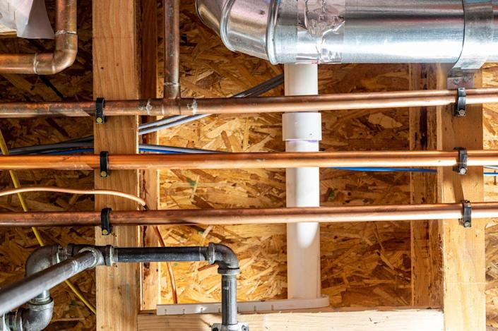 """<p>""""Checking for moisture in the winter is important due to snow accumulation in many parts of the U.S.,"""" says Bidwell. """"If your basement has leak issues, this can be made worse by the melting snow."""" Look for cracks or gaps in walls, floors, windows and foundations that water and air can come through. You should check seal cracks as well as window wells. Unaddressed air leaks in the basement can cause your HVAC system to work harder to maintain a room temperature. You can use epoxy on foundation cracks and masonry sealer indoors.</p>"""