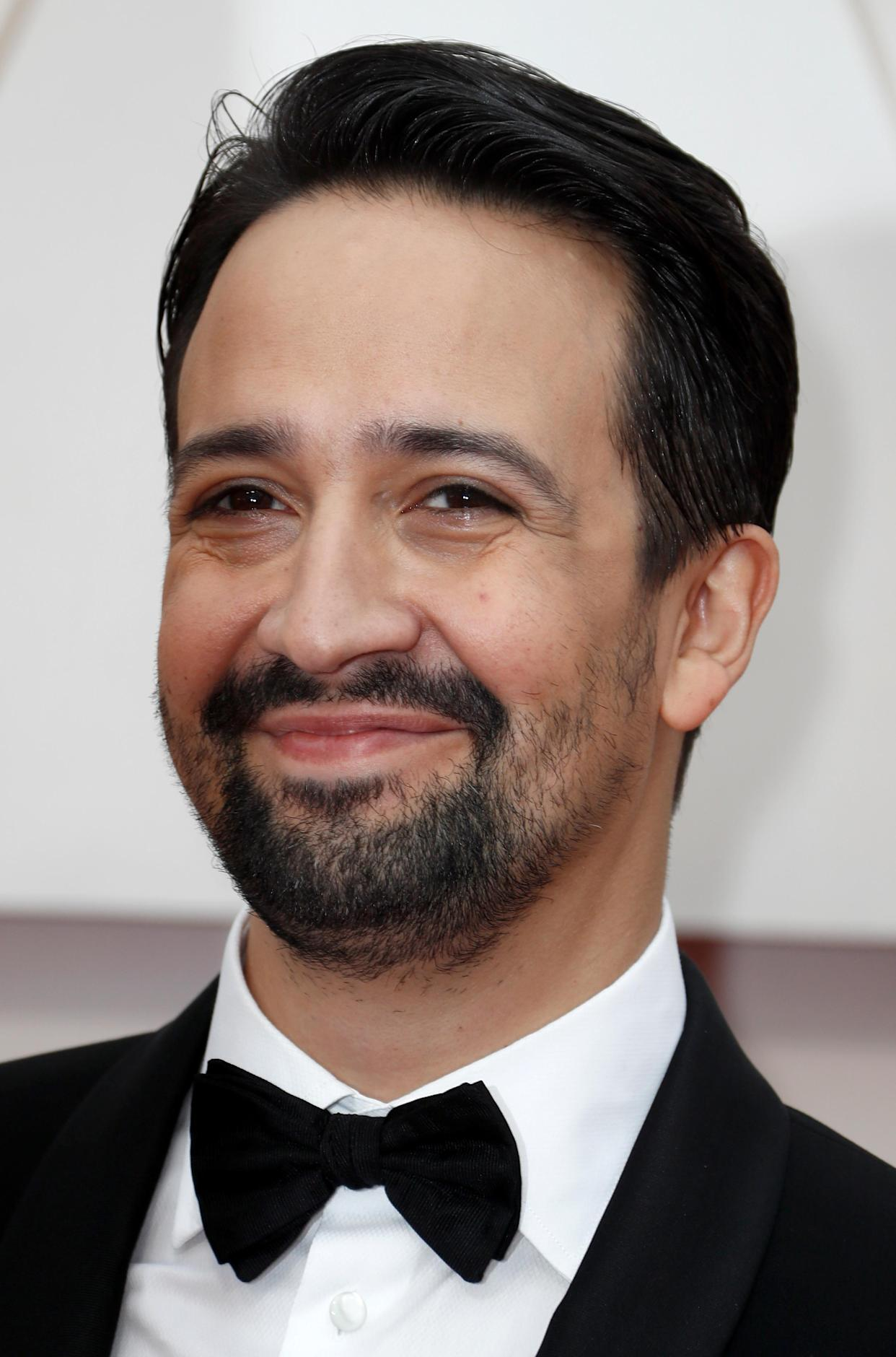 Lin-Manuel Miranda poses on the red carpet during the Oscars arrivals at the 92nd Academy Awards in Hollywood, Los Angeles, California, U.S., February 9, 2020. REUTERS/Eric Gaillard