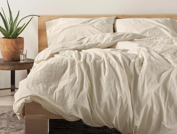 "<h3><strong>Coyuchi</strong> </h3><br><br>Founded 25 years ago in Northern California, this clean-living brand's focus on organic farming (i.e. 60% less carbon dioxide and greenhouse gas output than conventional farming) resulted in mindful processing of chemical-free fibers for the softest and most sustainable bedding that the company describes as, ""healthier for the home, and healthier for all the elements we need to keep the Earth alive."" The toxic dye, chemical, and softener-free goods range from apparel to bed, bath, and beyond essentials that are waste-efficient and luxuriously-comfortable.<br><br><em>Shop <strong><a href=""https://www.coyuchi.com/"" rel=""nofollow noopener"" target=""_blank"" data-ylk=""slk:Coyuchi"" class=""link rapid-noclick-resp"">Coyuchi</a></strong></em><br><br><strong>Coyuchi</strong> Organic Crinkled Percale Duvet Cover, $, available at <a href=""https://go.skimresources.com/?id=30283X879131&url=https%3A%2F%2Fwww.coyuchi.com%2Forganic-crinkled-percale-duvet-cover.html"" rel=""nofollow noopener"" target=""_blank"" data-ylk=""slk:Coyuchi"" class=""link rapid-noclick-resp"">Coyuchi</a>"