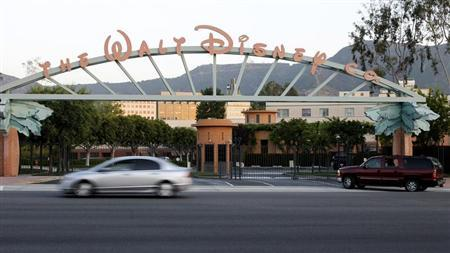 The signage at the main gate of The Walt Disney Co. is pictured in Burbank