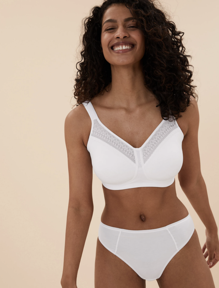 The bra comes in white and black. (Marks and Spencer)