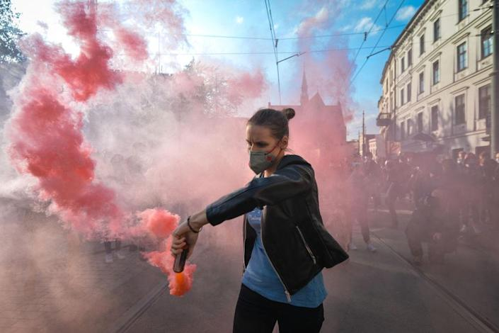 Polish Abortion Protests Continue - Day Seven