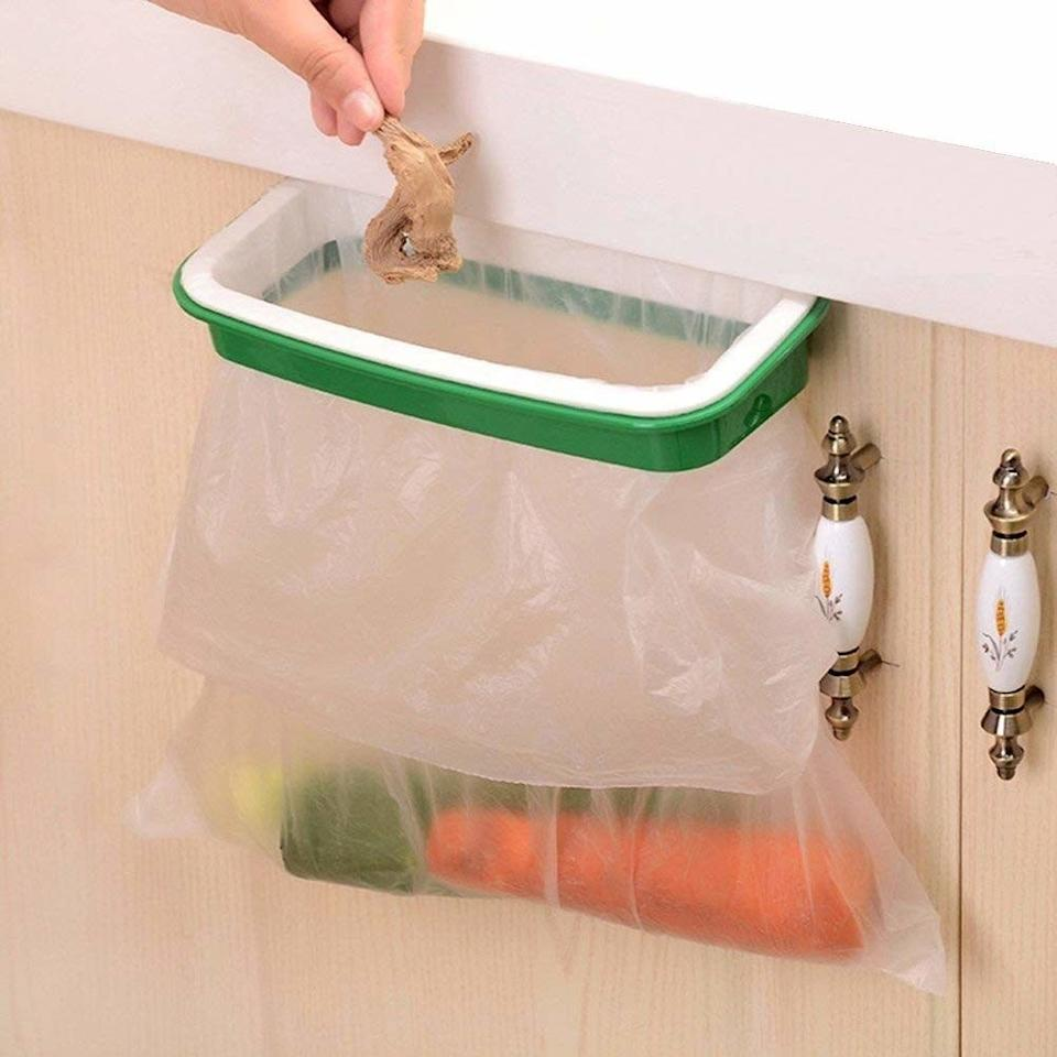 """Easily dispose of your scraps while cooking without having to walk over to the trash can every single time.<br /><br /><strong>Promising review:</strong>""""I love this product because I'm always chopping vegetables and cutting up meat. I would be making several trips to the trash. Now I'm able to make meal prep quicker, easier, and cleaner! A good way to use up some of those plastic bags from the grocery store, too!"""" —<a href=""""https://www.amazon.com/dp/B01DKWF2BQ?tag=huffpost-bfsyndication-20&ascsubtag=5833640%2C31%2C43%2Cd%2C0%2C0%2C0%2C962%3A1%3B901%3A2%3B900%3A2%3B974%3A3%3B975%3A2%3B982%3A2%2C16261716%2C0"""" target=""""_blank"""" rel=""""noopener noreferrer"""">Ellen Holcomb<br /></a><br /><strong>Get it from Amazon for<a href=""""https://www.amazon.com/dp/B01DKWF2BQ?tag=huffpost-bfsyndication-20&ascsubtag=5833640%2C31%2C43%2Cd%2C0%2C0%2C0%2C962%3A1%3B901%3A2%3B900%3A2%3B974%3A3%3B975%3A2%3B982%3A2%2C16261716%2C0"""" target=""""_blank"""" rel=""""noopener noreferrer"""">$6.99</a>.</strong>"""