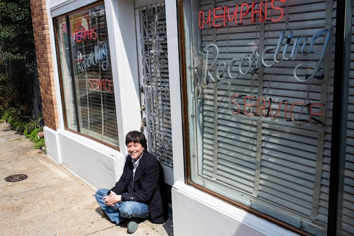 """Famed documentary filmmaker Ken Burns tours Sun Studios as part of a bus tour to promote his new eight-part series, """"Country Music."""""""