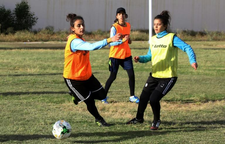 Libya does not have a women's football league so players for the national team are selected at school tournaments across the country