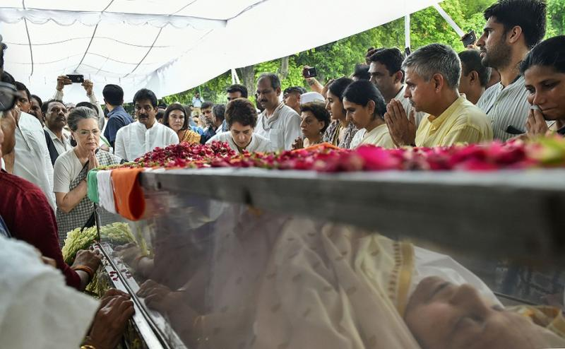 Earlier on Sunday, paying homage to Dikshit, Sonia said that she was a 'friend and like an elder sister' to her. Her demise was a big loss to the Congress party, she said. PTI