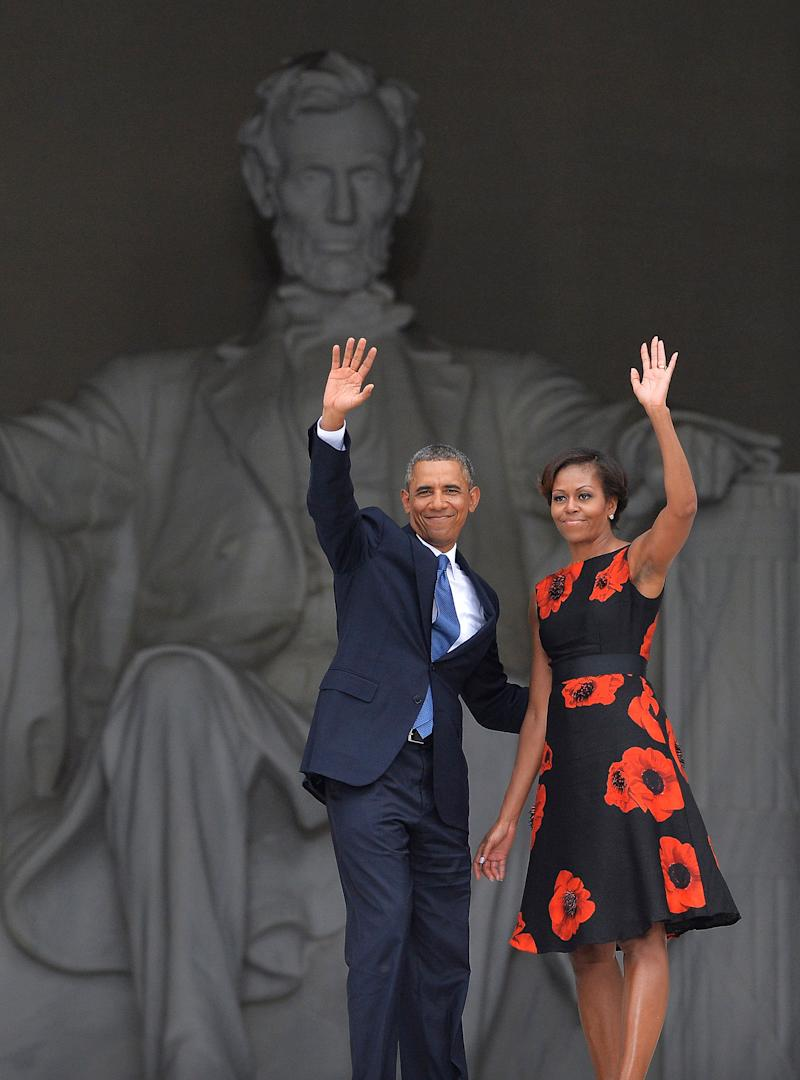 The former first lady wore this Tracy Reese dress on Aug. 28, 2013, while commemorating the 50th anniversary of the March on Washington.