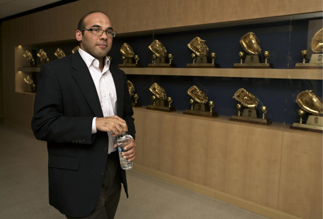 "Farhan Zaidi is leaving the <a class=""link rapid-noclick-resp"" href=""/mlb/teams/lad"" data-ylk=""slk:Dodgers"">Dodgers</a> to join the Giants. (AP Photo)"