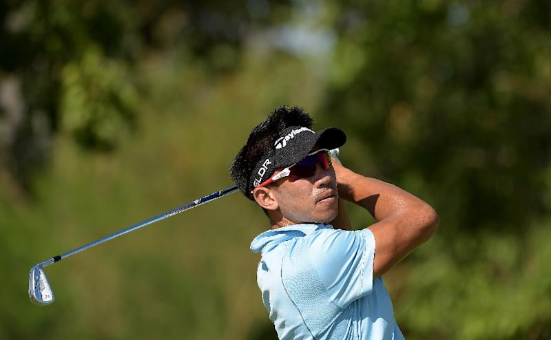 """This handout photo released by the Asian Tour on January 12, 2016 shows Paradorn Srichaphan of Thailand, former ATP tennis world number nine, hitting a shot during the Asian Tour final stage qualifying school at the Springfield Royal Country Club in Hua Hin. AFP PHOTO / Paul Lakatos /Asian Tour ----EDITORS NOTE---- RESTRICTED TO EDITORIAL USE - MANDATORY CREDIT - """"AFP PHOTO / Paul Lakatos /Asian Tour"""" - NO MARKETING NO ADVERTISING CAMPAIGNS - DISTRIBUTED AS A SERVICE TO CLIENTS (AFP Photo/PAUL LAKATOS)"""