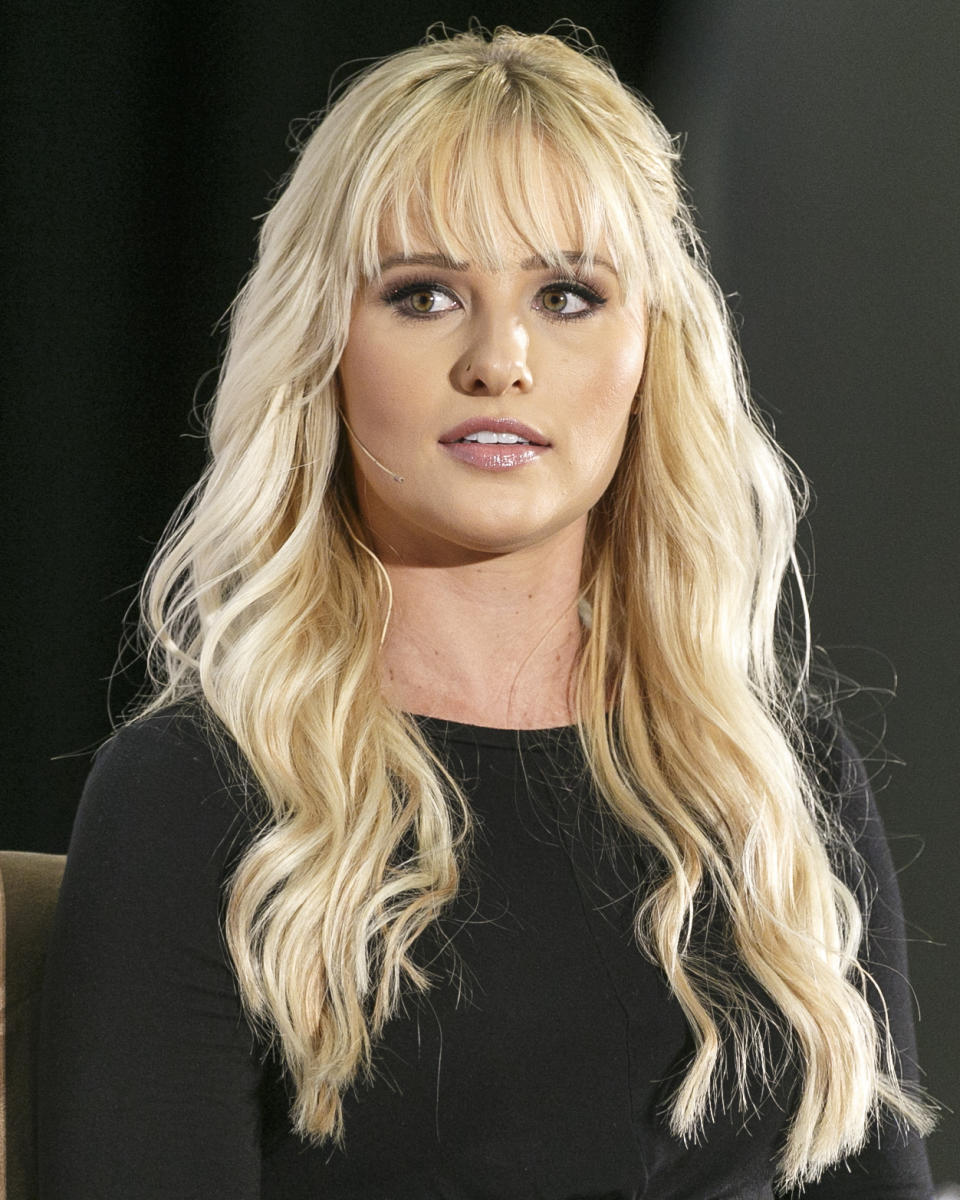 LOS ANGELES, CA - OCTOBER 21:  Tomi Lahren speaks onstage during Politicon 2018 at Los Angeles Convention Center on October 21, 2018 in Los Angeles, California.  (Photo by Rich Polk/Getty Images for Politicon )