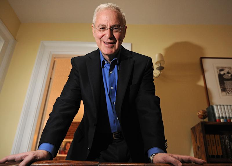 FILE - In this Monday, April 18, 2011, file photo, author Ron Chernow is photographed at his home in the Brooklyn borough of New York. Chernow, 64, received the BIO award from the Biographers International Organization, a nonprofit established in 2010 Saturday, May 18, 2013, at the Roosevelt Hotel in midtown Manhattan.  (AP Photo/ Louis Lanzano, File)