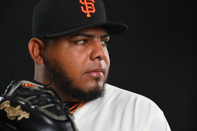 Reyes Moronta became what everyone believes is Quinigua's first big leaguer two Septembers ago. (Getty Images)