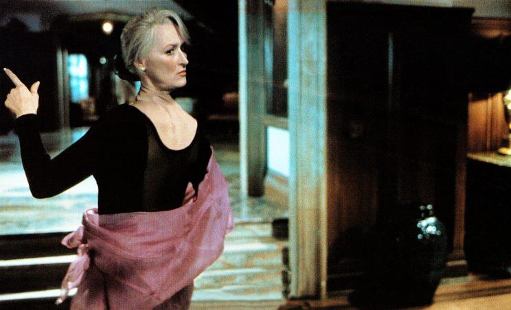 How the final rotated-head effect for Streep looks in Death Becomes Her