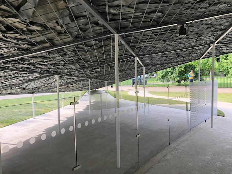 'Clumsy polycarbonate walls destroy the design' … Serpentine Galleries's summer Pavilion.
