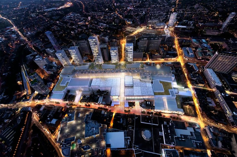 CGI of how the development was expected to transform Croydon (Handout)