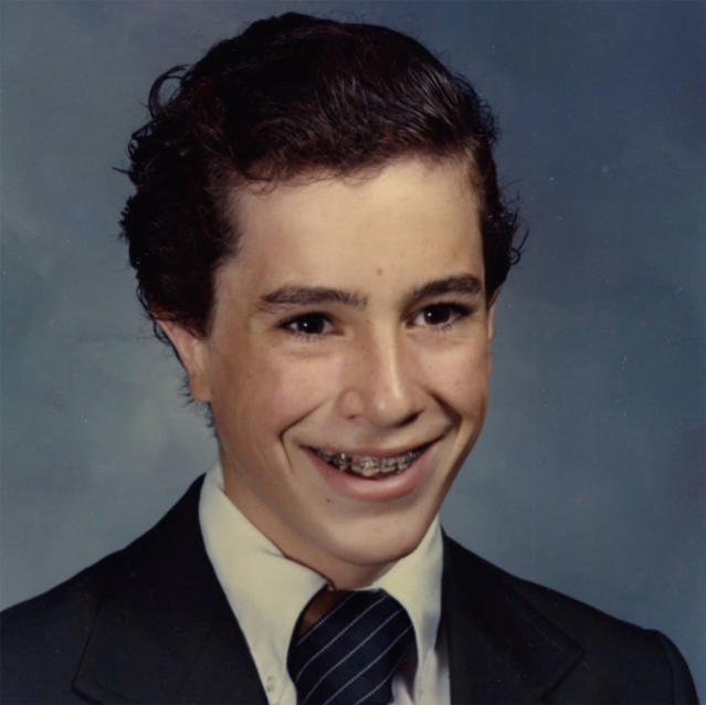 """<p>As for Colbert himself? Behold: """"Nick Kroll asked me to post a pic of my awkward stage, but I never had one. So here's me lookin' cool as hell!"""" (Photo: <a href=""""https://twitter.com/StephenAtHome/status/913254257582800896"""" rel=""""nofollow noopener"""" target=""""_blank"""" data-ylk=""""slk:Stephen Colbert via Twitter"""" class=""""link rapid-noclick-resp"""">Stephen Colbert via Twitter</a>) </p>"""
