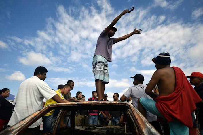 Researchers found that false reports influenced the perception of several social movements, including a truckers strike in Brazil last year (AFP Photo/DOUGLAS MAGNO)