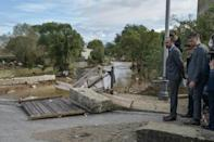 French Prime Minister Edouard Philippe visited the scene, saying the government would press insurers to process disaster claims rapidly