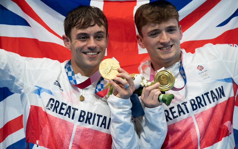 Tom Daley (left) and Matty Lee - Paul Grover for the Telegraph