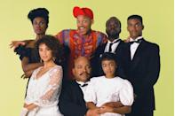 """<p>Carlton's (Alfonso Ribeiro) famous dance was a running gag <a href=""""https://www.redbookmag.com/love-sex/relationships/a22072923/will-smith-jada-pinkett-smith-marriage-1/"""" rel=""""nofollow noopener"""" target=""""_blank"""" data-ylk=""""slk:on the sitcom"""" class=""""link rapid-noclick-resp"""">on the sitcom</a> and it was based on another popular '90s sitcom star's moves: Courteney Cox's (<em>Friends</em>) <a href=""""https://variety.com/2015/tv/news/fresh-prince-of-bel-air-alfonso-ribeiro-carlton-dance-1201570543/"""" rel=""""nofollow noopener"""" target=""""_blank"""" data-ylk=""""slk:moves in Bruce Springsteen's &quot;Dancing in the Dark&quot; video"""" class=""""link rapid-noclick-resp"""">moves in Bruce Springsteen's """"Dancing in the Dark"""" video</a>. It was also inspired by Eddie Murphy's """"the white man dance"""" from his <em>Delirious</em> comedy special.</p>"""