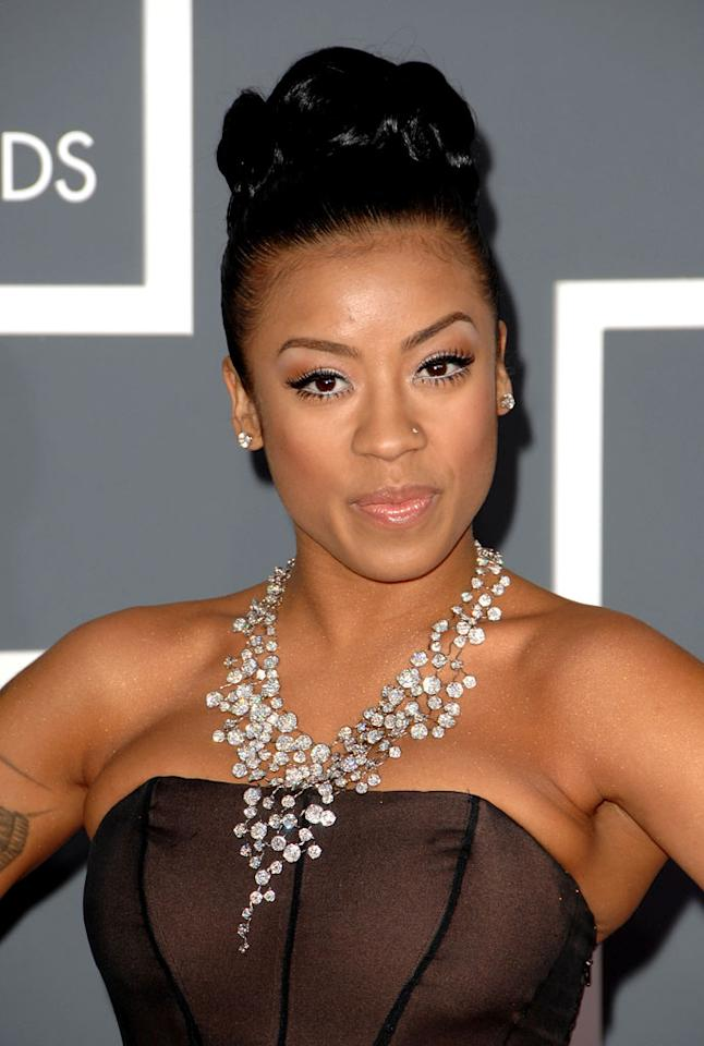 Keyshia Cole arrives at the 51st Annual Grammy Awards at the Staples Center on February 8, 2009, in Los Angeles.