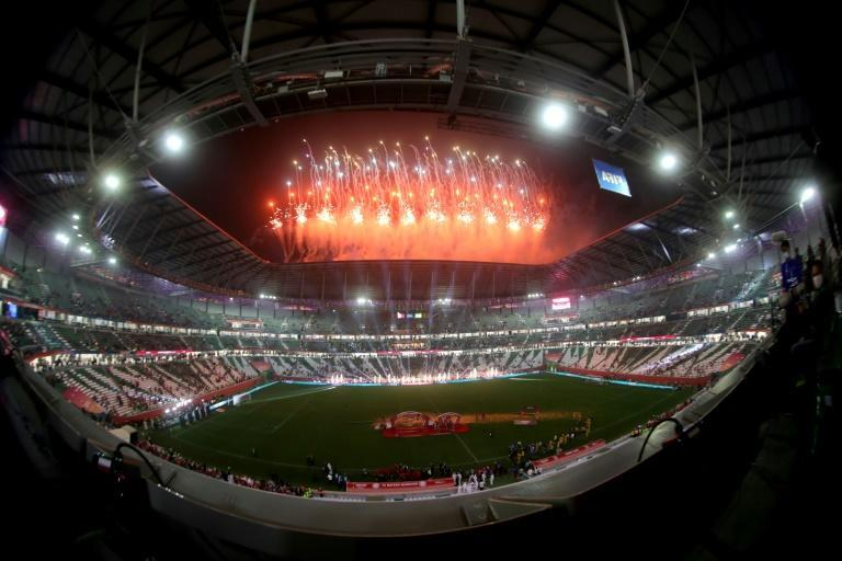 Fireworks illuminate the sky after the FIFA Club World Cup final between Germany's Bayern Munich and Mexico's UANL Tigres in Qatar