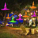 <p>These <span>Maoyue Outdoor Hanging Lighted Glowing Witch Hats</span> ($27, set of eight) are so cool.</p>