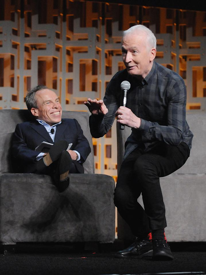 <p>Warwick Davis and Anthony Daniels (Photo: Gerardo Mora/Getty Images) </p>