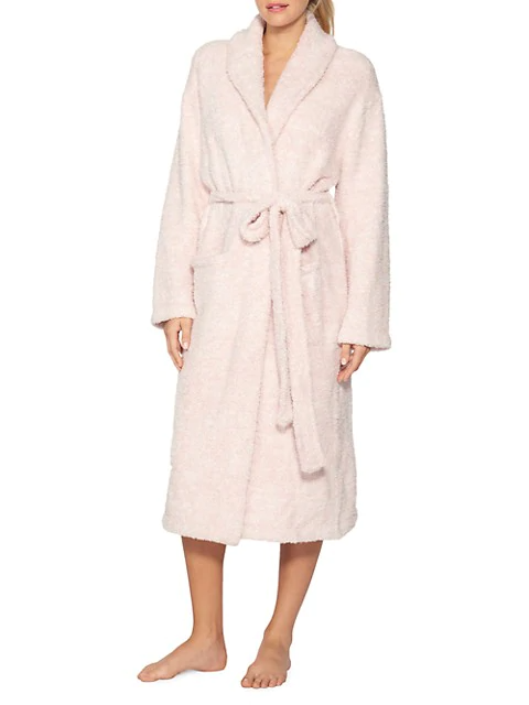 """<h3><h2>Barefoot Dreams CozyChic Robe</h2></h3><br>If the brand name doesn't say it all — this machine-washable robe is crafted for lounging longevity from a super soft and cushy microfiber that won't shrink or pill.<br><br>One reviewer calls it the, """"Most comfortable robe ever,"""" declaring: """"I'm so glad I bought this robe. It's incredibly soft and cozy. It is thick fabric without being heavy or hot. Totally a year-round robe.""""<br><br><strong>BAREFOOT DREAMS®</strong> The CozyChic Robe, $, available at <a href=""""https://go.skimresources.com/?id=30283X879131&url=https%3A%2F%2Fwww.saksfifthavenue.com%2Fbarefoot-dreams-the-cozychic-heathered-robe%2Fproduct%2F0400012721365"""" rel=""""nofollow noopener"""" target=""""_blank"""" data-ylk=""""slk:Saks Fifth Avenue"""" class=""""link rapid-noclick-resp"""">Saks Fifth Avenue</a>"""