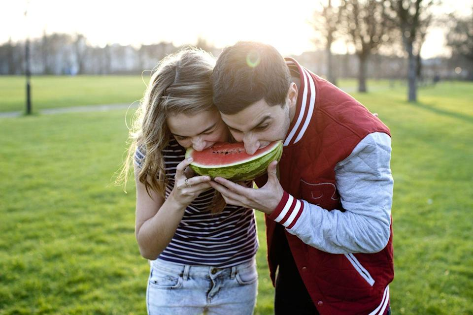 <p>The South Carolina city of Spartanburg has no tolerance for people eating watermelon, but as long as you're not in the Magnolia Street cemetery, you should be good to dig in.</p>