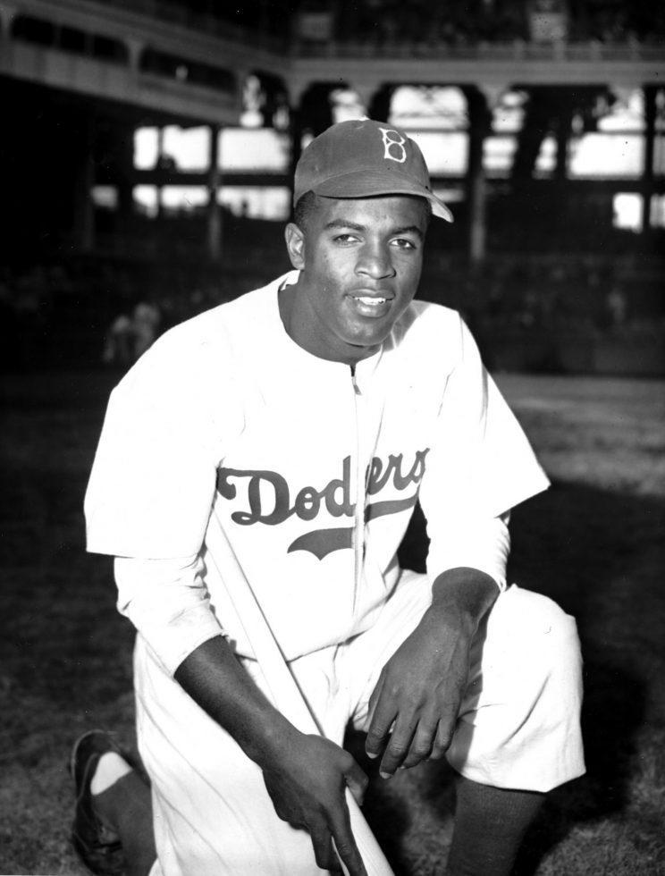 The Dodgers and Major League Baseball will continue honoring Jackie Robinson's legacy with a statue outside Dodger Stadium. (AP)