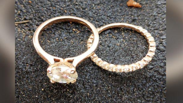 PHOTO: Hobby metal detector Nathan Wright found Ariel Duke's wedding rings among the debris after a tornado destroyed her Canton, Texas, home.  (Courtesy of Nathan Wright)