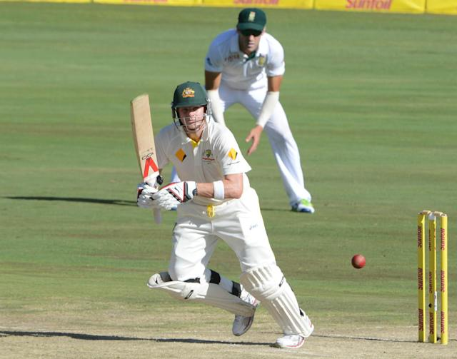 PRETORIA, SOUTH AFRICA - FEBRUARY 12: Steve Smith of Austrailia during day 1 of the 1st Test match between South Africa and Australia at SuperSport Park on February 12, 2014 in Pretoria, South Africa. (Photo by Lee Warren/Gallo Images)