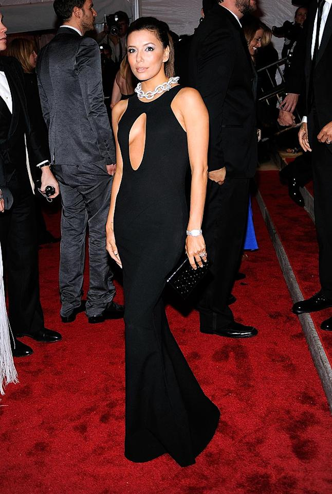 "Eva Longoria kept it sleek and sexy in a dreamy Diane von Furstenberg dress and a chunky chain-link necklace. Larry Busacca/<a href=""http://www.gettyimages.com/"" target=""new"">GettyImages.com</a> - May 4, 2009"