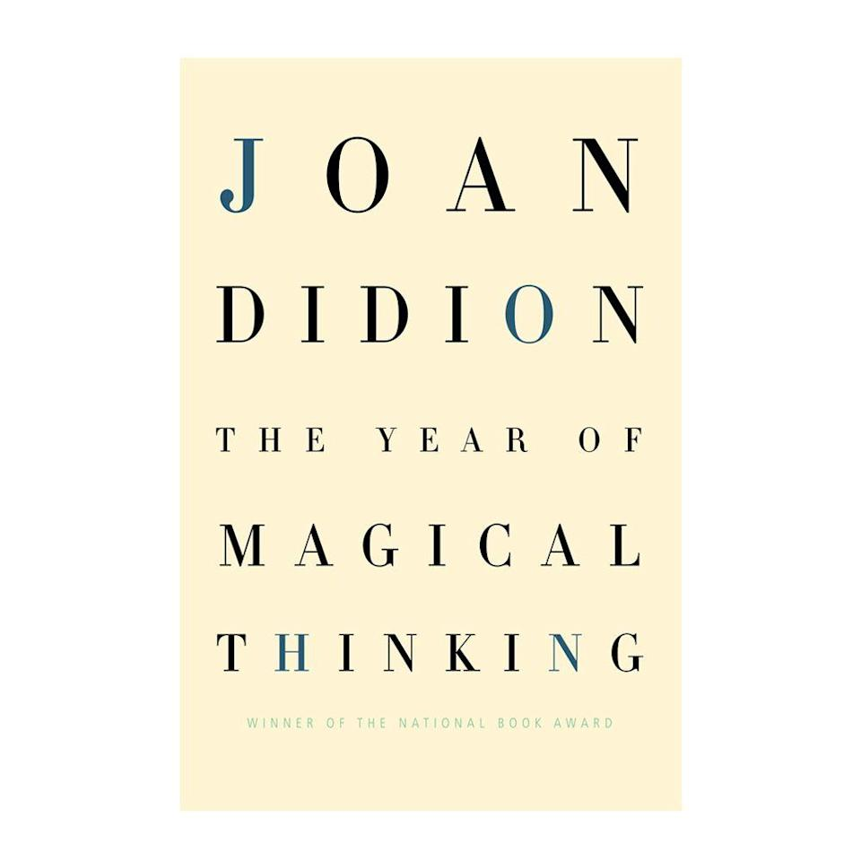 """<p><strong>$14.11 <a class=""""link rapid-noclick-resp"""" href=""""https://www.amazon.com/Year-Magical-Thinking-Joan-Didion/dp/140004314X/ref=tmm_hrd_swatch_0?tag=syn-yahoo-20&ascsubtag=%5Bartid%7C10054.g.35036418%5Bsrc%7Cyahoo-us"""" rel=""""nofollow noopener"""" target=""""_blank"""" data-ylk=""""slk:BUY NOW"""">BUY NOW</a></strong></p><p><strong>Genre: </strong>Non-Fiction</p><p>Winner of the 2005 National Book Award for Non-Fiction, <em>The Year of Magical Thinking</em> is an account of the events and feelings author Joan Didion experienced in the year following her husband's death. Also caring for their gravely ill daughter during this period of grief, Didion speaks on her feelings of reportorial detachment, which she refers to as magical thinking. </p>"""