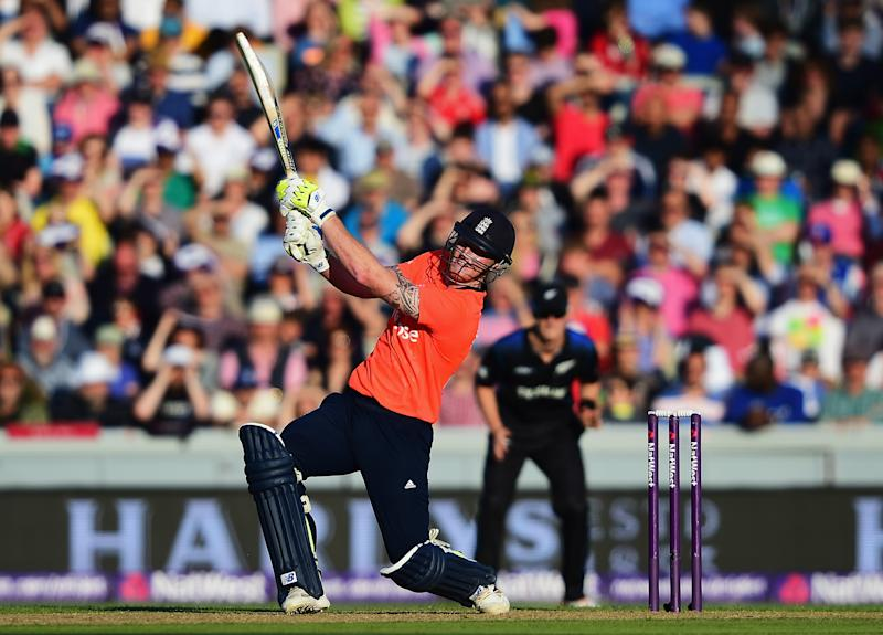 MANCHESTER, ENGLAND - JUNE 23: Ben Stokes of England plays a shot during the NatWest International Twenty20 match between England and New Zealand at Old Trafford on June 23, 2015 in Manchester, England. (Photo by Shaun Botterill/Getty Images)