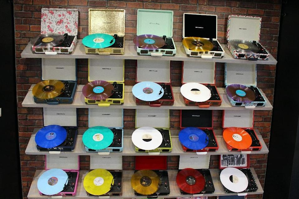 The $416 million generated by vinyl accounted for more than all the revenue brought in by billions of advertisement-supported free streams (AFP Photo/Glenn Chapman)