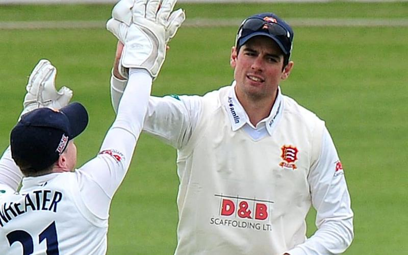 Alastair Cook took two catches before an assured knock of 39 not out - Rex Features