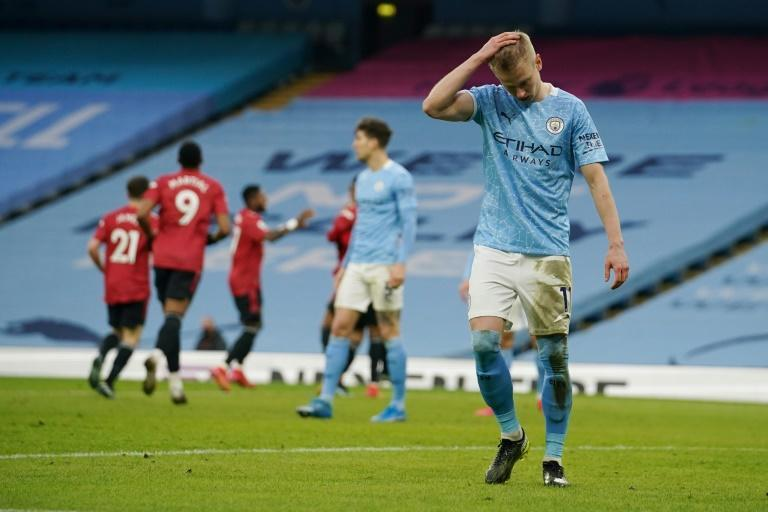 Manchester City's 21-game winning streak was ended by Manchester United on Sunday