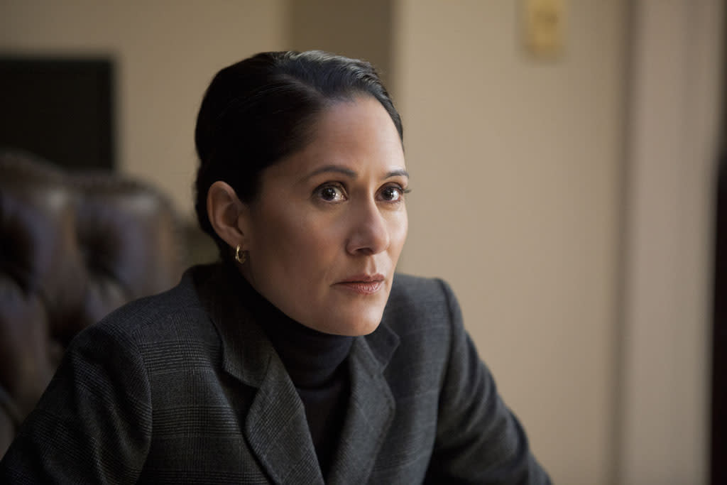 "Sakina Jaffrey in the ""House of Cards"" Season 1 episode, ""Chapter 2."""