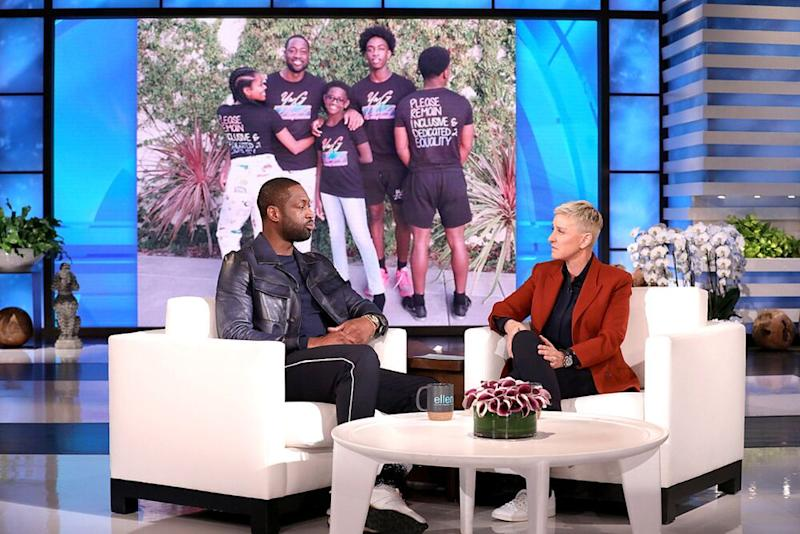 Dwyane Wade on The Ellen DeGeneres Show | Michael Rozman/Warner Bros.