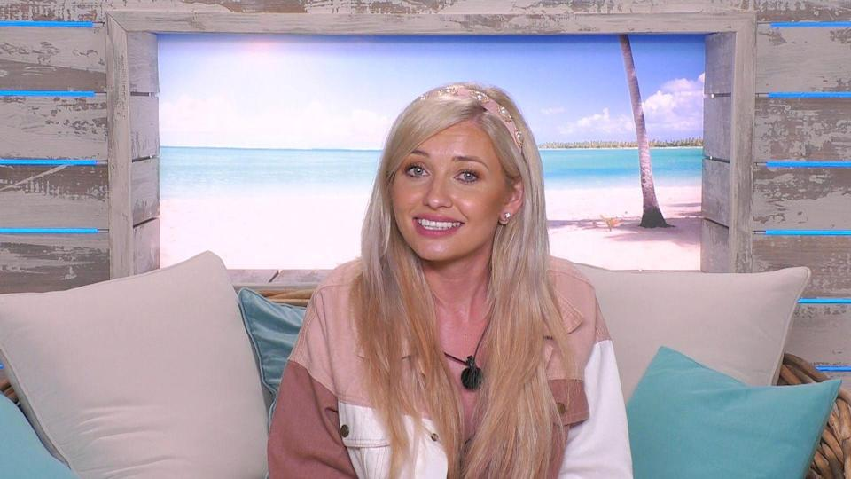 """<p>It's safe to say we all thought <a href=""""https://www.cosmopolitan.com/uk/entertainment/a28601312/love-island-the-reunion-curtis-amy-maura-twitter-reactions/"""" rel=""""nofollow noopener"""" target=""""_blank"""" data-ylk=""""slk:Amy and her partner Curtis Pritchard"""" class=""""link rapid-noclick-resp"""">Amy and her partner Curtis Pritchard</a> were end game. But, after some shady goings on in Casa Amor on Curtis' part, the couple's whirlwind romance came to a dramatic end. </p><p>While the pair's split was certainly hard to watch (poor Amy), their breakup birthed perhaps one of the most iconic Love Island lines ever – """"I want to be the person that gets up and makes everyone a coffee in the morning.<strong>"""" </strong><a href=""""https://www.cosmopolitan.com/uk/entertainment/a36515860/curtis-and-aj-pritchard-respond-hollyoaks-backlash/"""" rel=""""nofollow noopener"""" target=""""_blank"""" data-ylk=""""slk:Oh, Curtis"""" class=""""link rapid-noclick-resp"""">Oh, Curtis</a>.</p><p>As <a href=""""https://www.cosmopolitan.com/uk/entertainment/a36725681/maura-higgins-romance-rumours-giovanni-pernice/"""" rel=""""nofollow noopener"""" target=""""_blank"""" data-ylk=""""slk:model Maura Higgins"""" class=""""link rapid-noclick-resp"""">model Maura Higgins</a> started to move in on her ex, Amy decided to make a swift exit from the show, telling her fellow Islanders she wouldn't be able to find love in the villa again.</p>"""