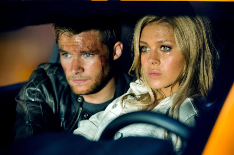 Jack Reynor and Nicola Peltz in <i>Transformers: Age of Extinction</i> (Paramount)