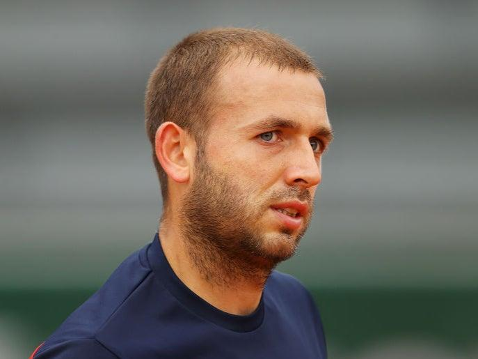 Dan Evans was furious during the doubles match (Getty)