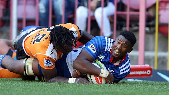 Stormers maintain a perfect Super Rugby record as Sikhumbuzo Notshe grabs a treble in victory over Cheetahs, while Kriel wins it for Lions.